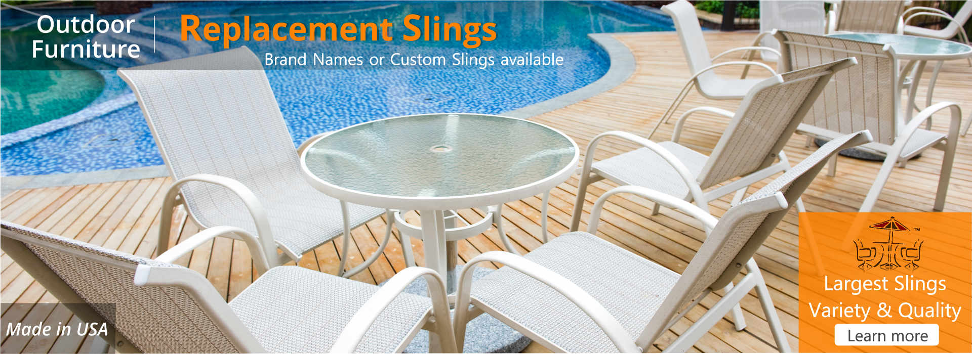 Replacement Slings Patio Chairs