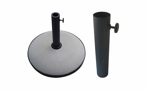PATIO UMBRELLA BASES AND POLES