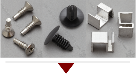 Rivets clips screws for patio furniture